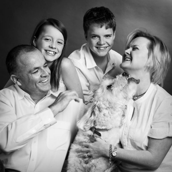 family with pet family photography Sydney