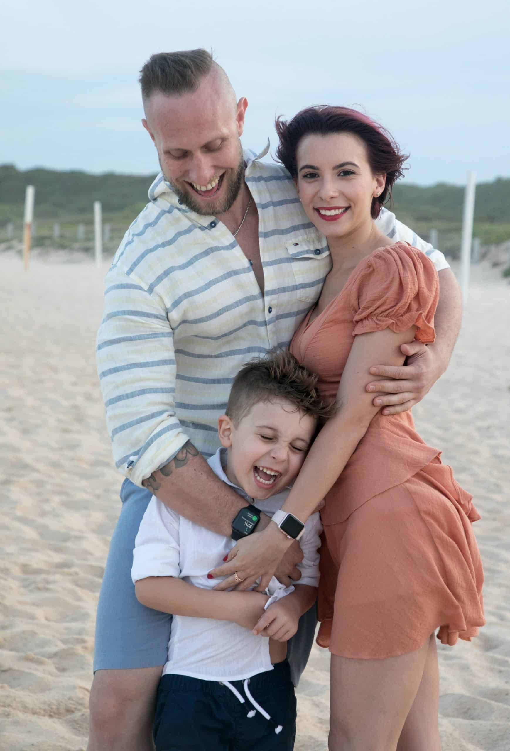 beach family photoshoot